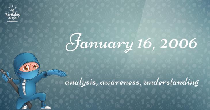 January 16, 2006 Birthday Ninja