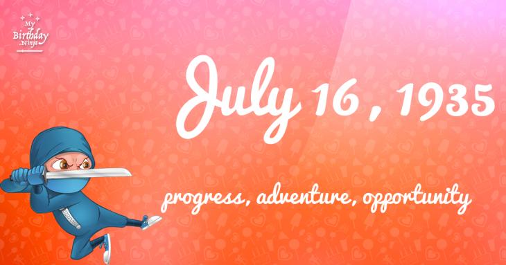 July 16, 1935 Birthday Ninja