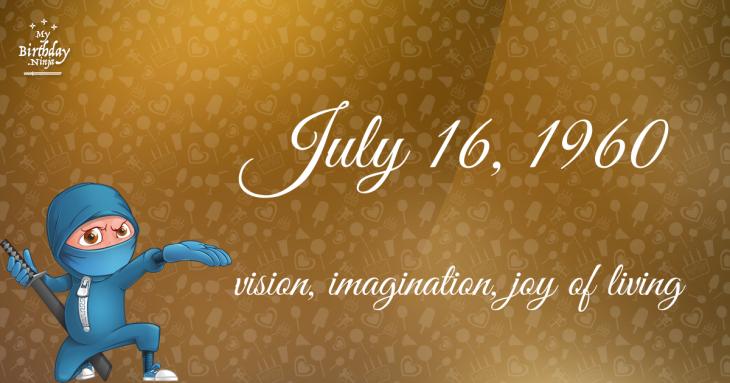 July 16, 1960 Birthday Ninja