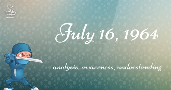 July 16, 1964 Birthday Ninja
