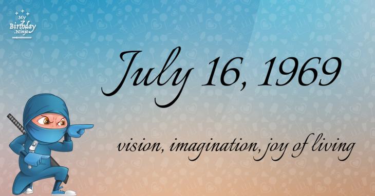 July 16, 1969 Birthday Ninja