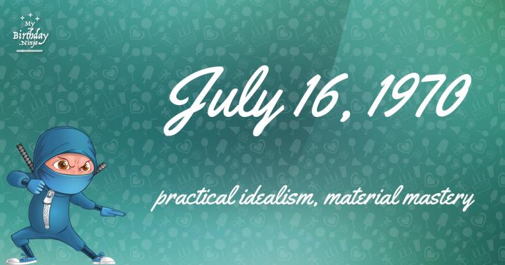 July 16, 1970 Birthday Ninja