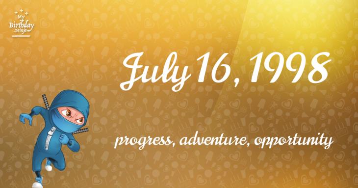 July 16, 1998 Birthday Ninja