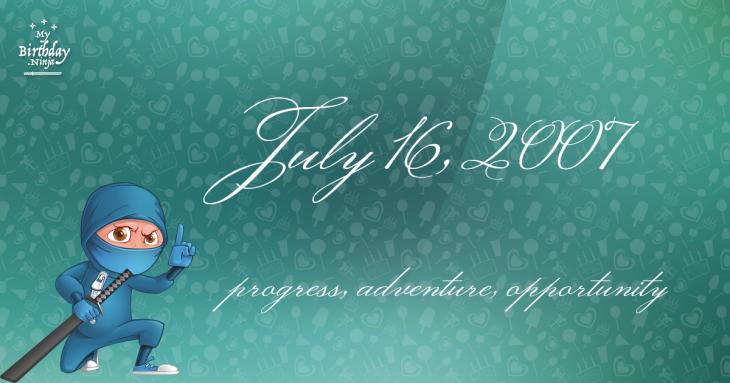 July 16, 2007 Birthday Ninja