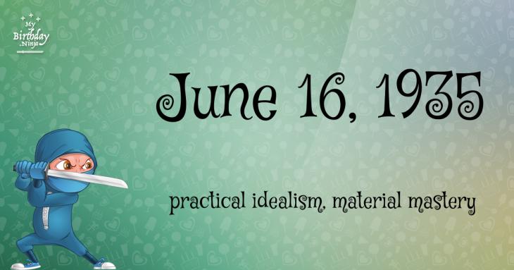 June 16, 1935 Birthday Ninja