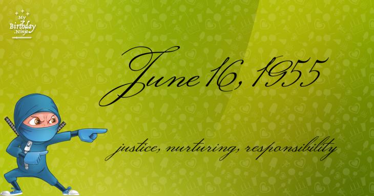 June 16, 1955 Birthday Ninja