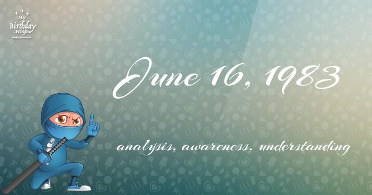 June 16, 1983 Birthday Ninja