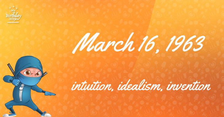 March 16, 1963 Birthday Ninja