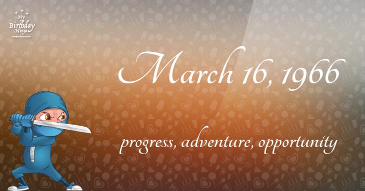 March 16, 1966 Birthday Ninja