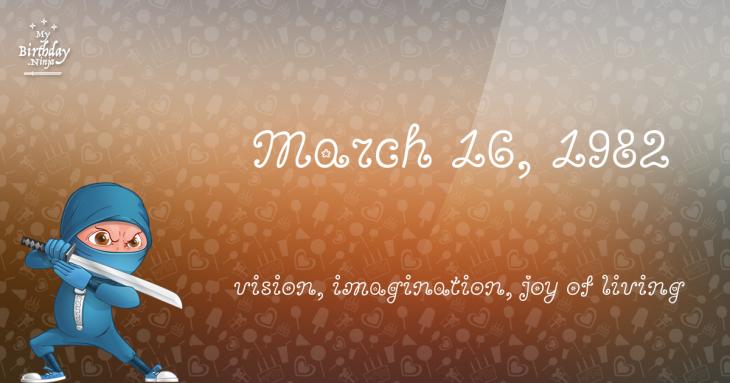 March 16, 1982 Birthday Ninja