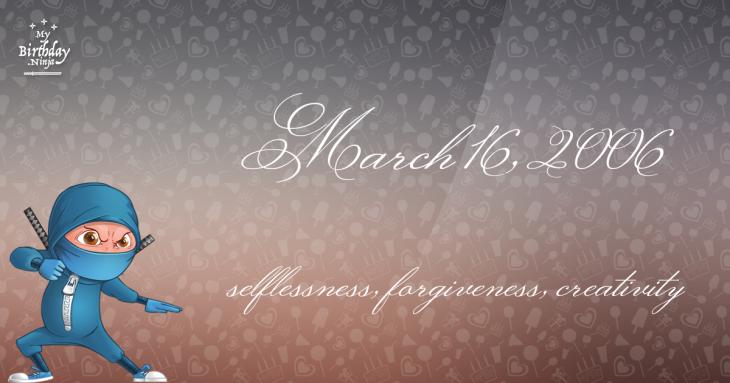 March 16, 2006 Birthday Ninja