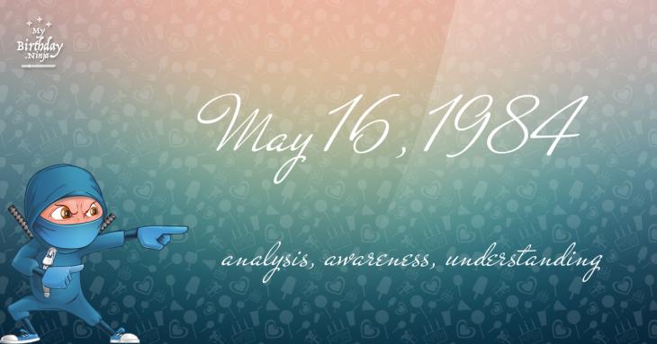 May 16, 1984 Birthday Ninja