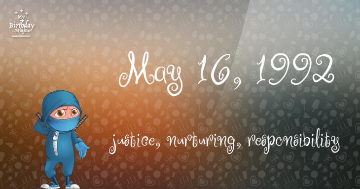 May 16, 1992 Birthday Ninja