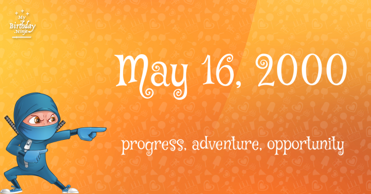 May 16, 2000 Birthday Ninja