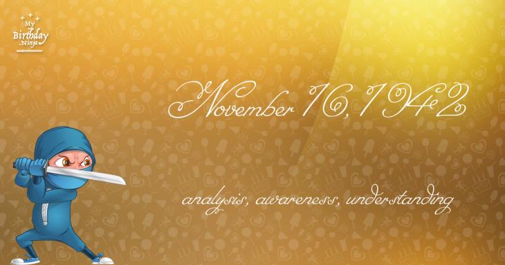 November 16, 1942 Birthday Ninja