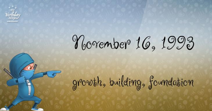 November 16, 1993 Birthday Ninja