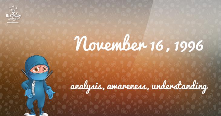 November 16, 1996 Birthday Ninja