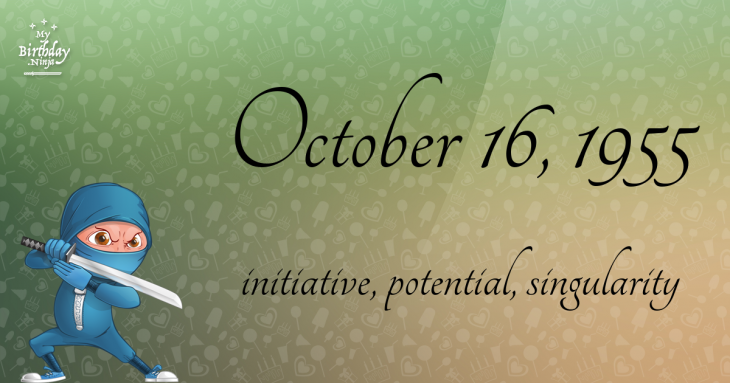 October 16, 1955 Birthday Ninja