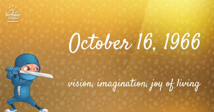 19 Fun Birthday Facts About October 16, 1966 You Must Know