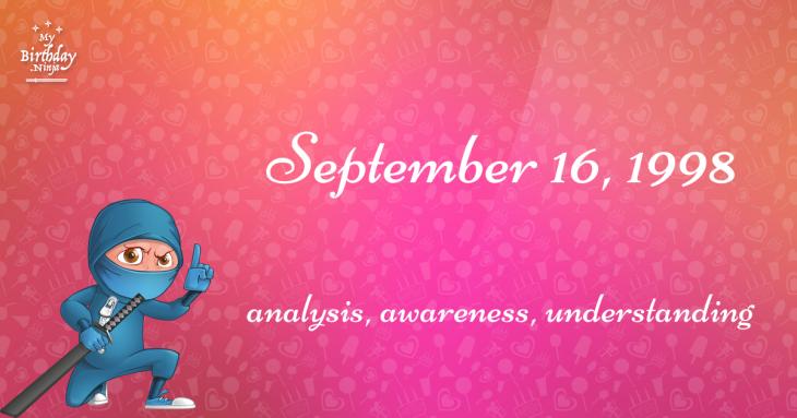 September 16, 1998 Birthday Ninja