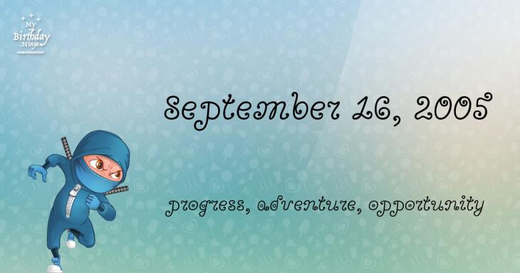September 16, 2005 Birthday Ninja