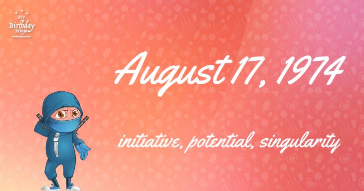 August 17, 1974 Birthday Ninja