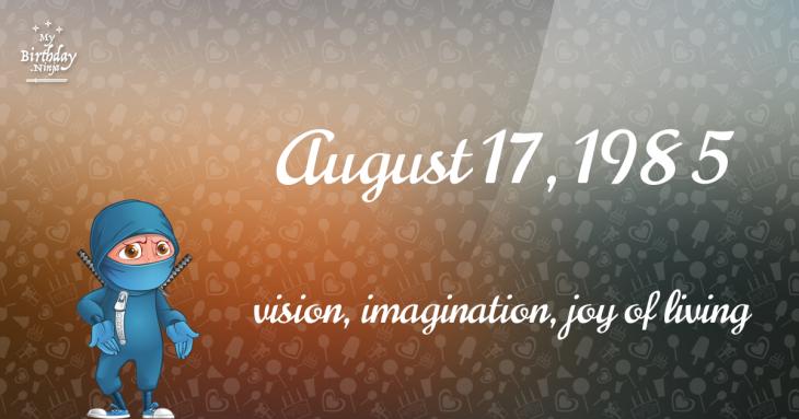 August 17, 1985 Birthday Ninja