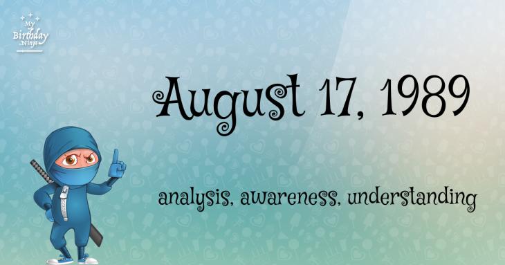 August 17, 1989 Birthday Ninja