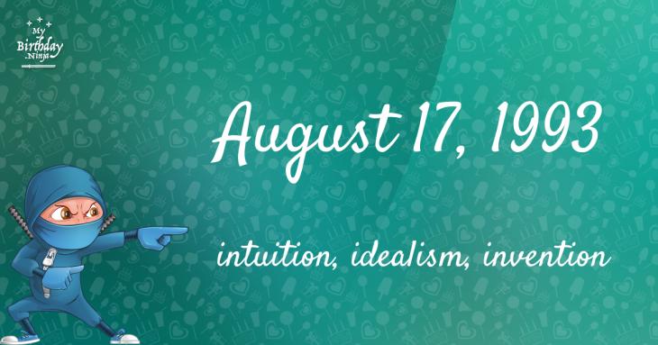 August 17, 1993 Birthday Ninja