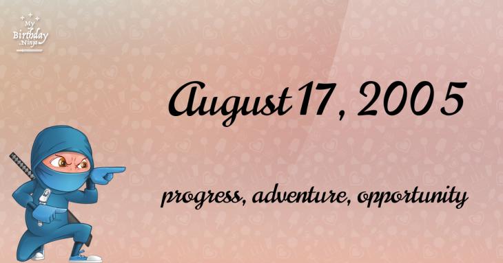 August 17, 2005 Birthday Ninja