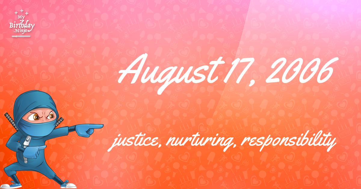 August 17, 2006 Birthday Ninja Poster