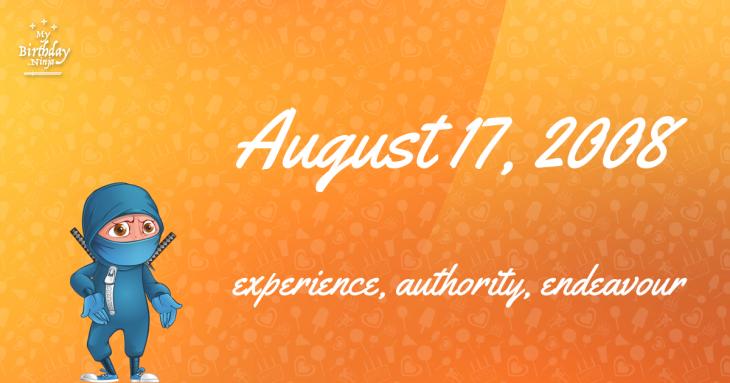 August 17, 2008 Birthday Ninja