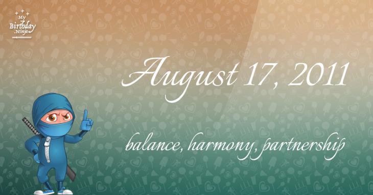 August 17, 2011 Birthday Ninja
