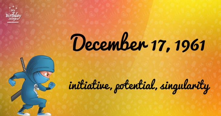 December 17, 1961 Birthday Ninja