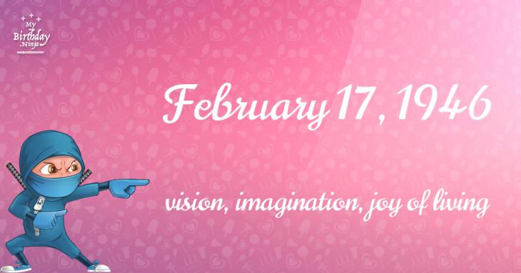 February 17, 1946 Birthday Ninja