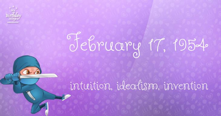 February 17, 1954 Birthday Ninja