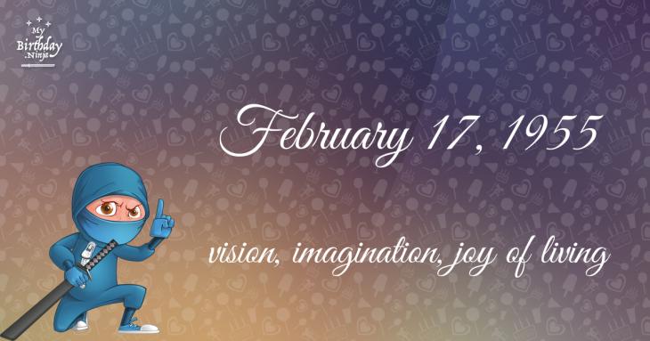 February 17, 1955 Birthday Ninja