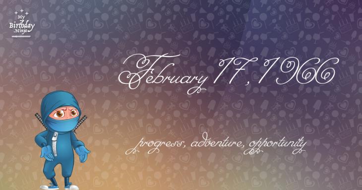 February 17, 1966 Birthday Ninja