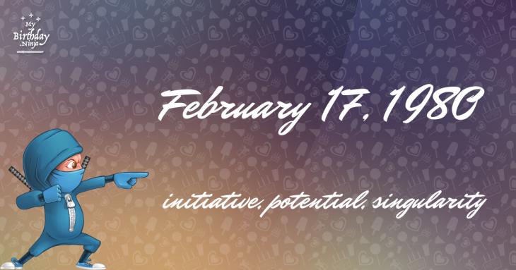 February 17, 1980 Birthday Ninja