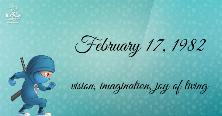 February 17, 1982 Birthday Ninja