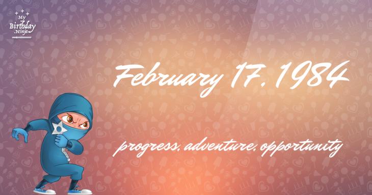 February 17, 1984 Birthday Ninja