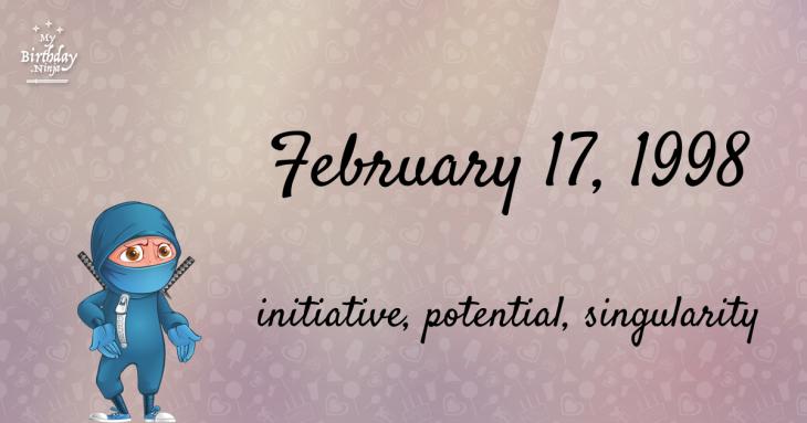 February 17, 1998 Birthday Ninja