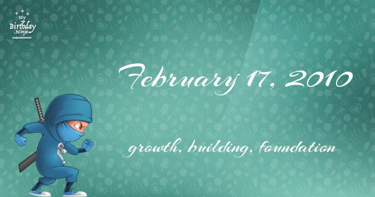 February 17, 2010 Birthday Ninja