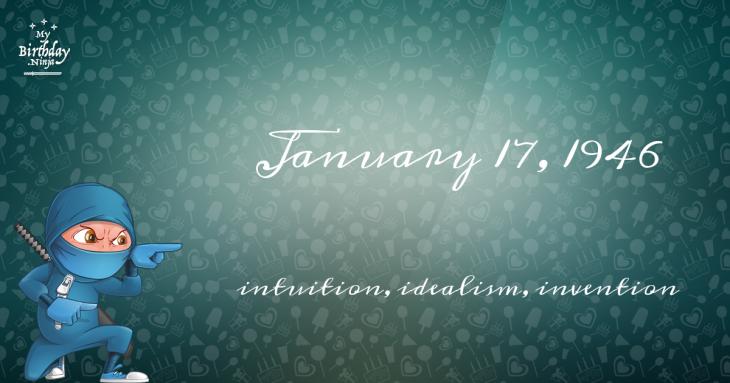 January 17, 1946 Birthday Ninja