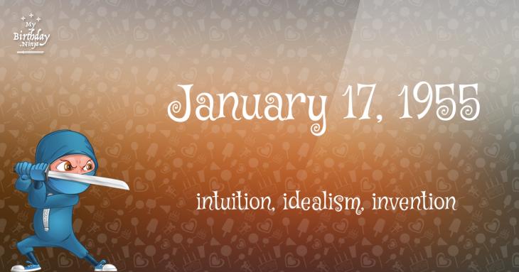January 17, 1955 Birthday Ninja