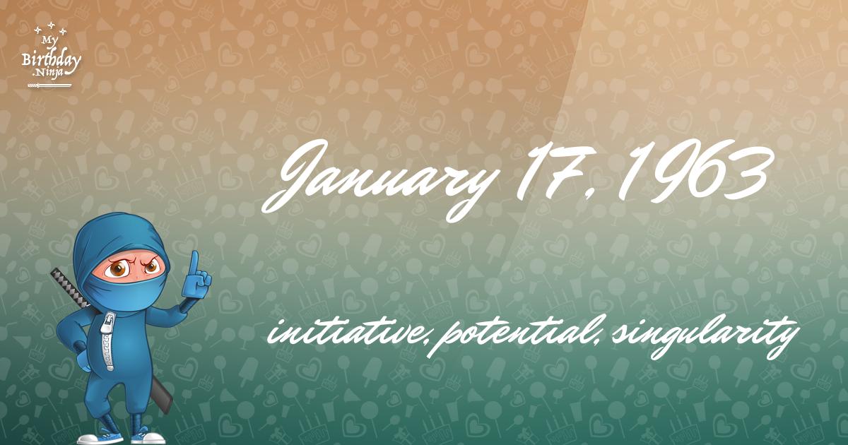 January 17, 1963 Birthday Ninja Poster