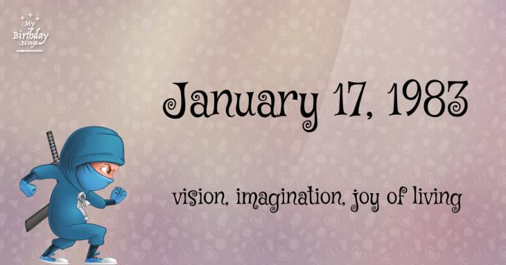 January 17, 1983 Birthday Ninja