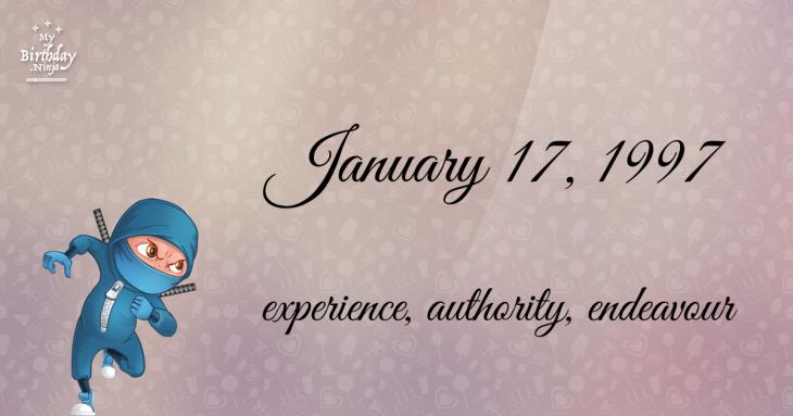 January 17, 1997 Birthday Ninja