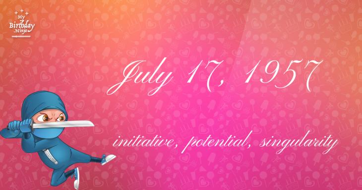 July 17, 1957 Birthday Ninja
