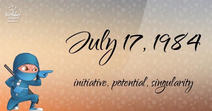 July 17, 1984 Birthday Ninja